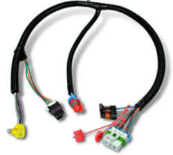 Wire harness with vacuum impregnated connectors
